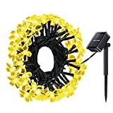 Solar String Light, Magicfly 50 LED 26ft Solar Flower String Lights, Waterproof Fairy Blossom Christmas Halloween Light for Home, Garden, Patio, Lawn, Outdoor Party and Holiday Decor (Warm White)