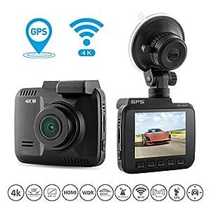 coofo car dash cam 4k fhd night vision car dvr dashboard. Black Bedroom Furniture Sets. Home Design Ideas