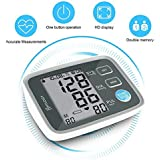 Blood Pressure Monitor, HYLOGY Digital Automatic Upper Arm BP Monitor Cuff 8.7 to 12.6 Inch, Large Screen Display and 2 Users Mode 2*90 Memory Storage