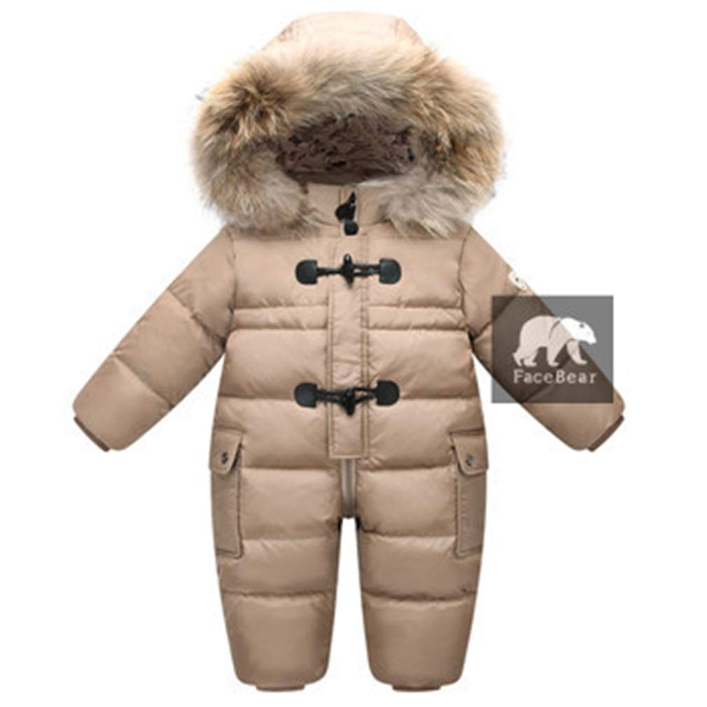 CHUN YUJIE Designed for Russian Winter Baby Snowsuit, Jacket for Girls Coats Winter Park for Infant Boy Snowsuit Snow Wear Coffee 12M by CHUN YUJIE