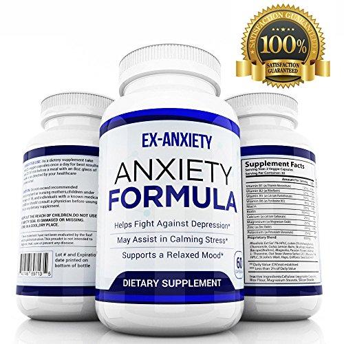 L'anxiété naturelle pilules Anti Stress humeur Enhancer dépression supplément Made in USA - calmant la dépression et les sentiments anxieux - Anti anxiété supplément hommes femmes enfants