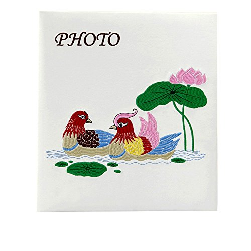 Couple leather face embroidery album / 50 pages 100 face paste coating large capacity album album (25 (Romantic Boxed Leather)