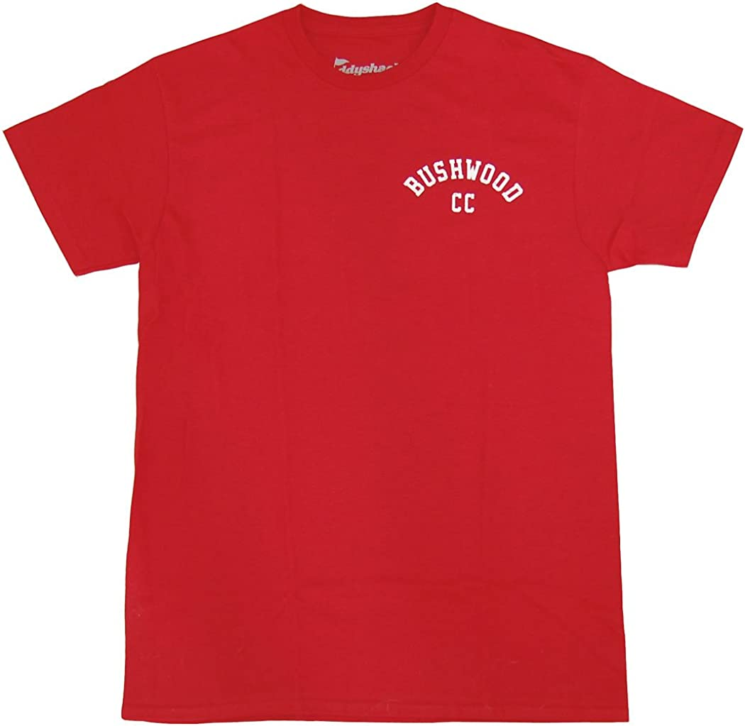 Adult Red Comedy Movie Caddyshack Bushwood Country Club Back Print T-shirt Tee