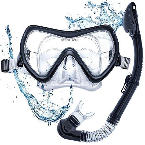 DIVE IT Snorkel Mask - Snorkel Set - Scuba Mask with Dry Snorkel Anti-fogging Lens & Dual Strap System
