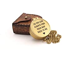 So You Can Always Find Your Way Back to Me/Personalized Compass/Custom Engraved/Boyfriend Gift/Gift to Husband/Custom…