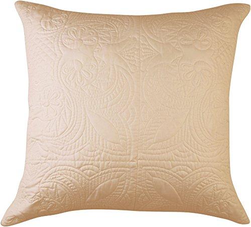 Design Source Venice Euro Pillow 26'' X 26'' Linen brown