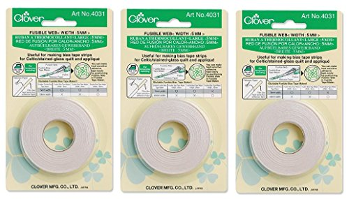 Bulk Buy: Clover Fusible Bias Tape Maker Fusible Web 40 Feet 4031C (3-Pack)
