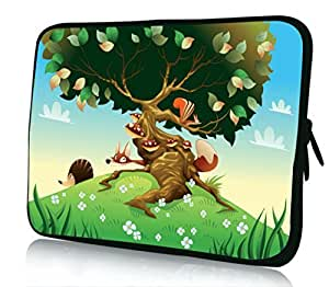 10 inch Rikki KnightTM Cartoon Landscape With Animals Design Laptop sleeve - Ideal for iPad 2,3,4, iPad Air, Galaxy Note, Small Notebooks and other Tablets