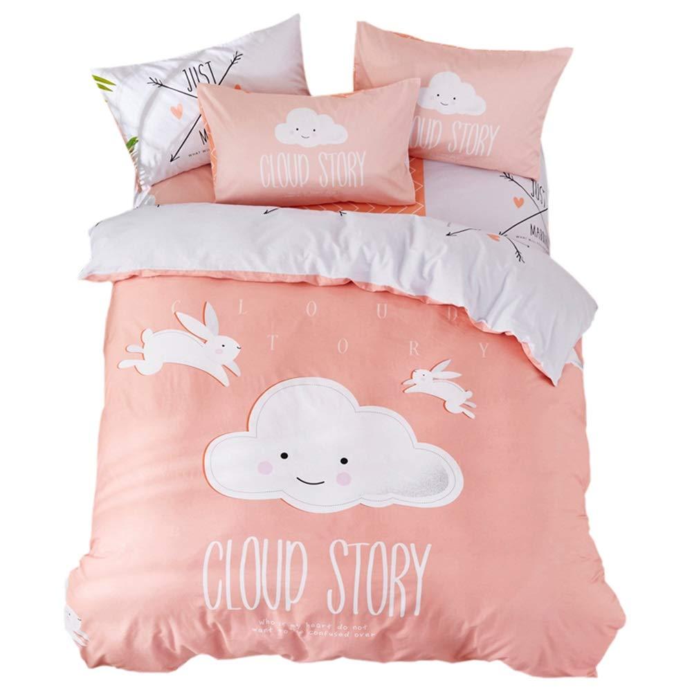 CSYP 漫画の子供の寝具綿プリントスリーピース綿の漫画のスーツの寝具 (Color : Metallic) B07Q6C6DDM