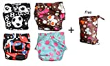 Best Blueberry Bottom Cloth Diaper Covers - BubuBibi Bamboo Prints/Solid Pocket Snaps Cloth Diaper/ Nappy Review