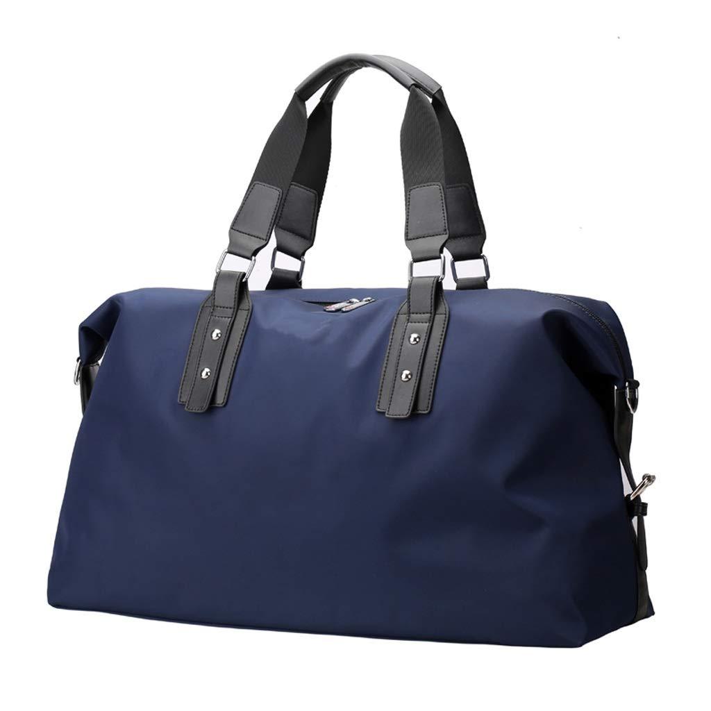 WANGXIAOLINYUNDONGBAO 旅行かばん、携帯用、多機能、フィットネスバッグ、短距離用バッグ、スポーツ用バッグ、ダークブルー、50 * 17.5 * 33 cm B07P8R1P86