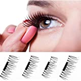 Weirui 2 Pair 8 Pieces Magnet Eyelashes False Natural Soft Fake Eye Lashes Makeup Accessories (1 0 Magnet Eyelashes)
