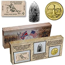Civil War 150th Anniversary Commemorative Set: With Stamp, Coin and Bullet by 1st Commemorative
