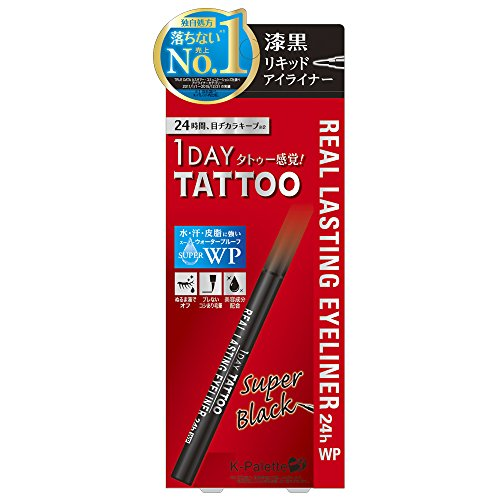 Cuore K-Palette 1 Day Tattoo Real Lasting Eyeliner 24H WP (Super Black)