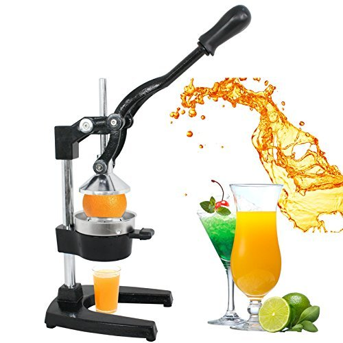 ZENY Manual Citrus Press Stand Juicer Commercial Metal Orange Lemon Lime Hand Press Squeezer