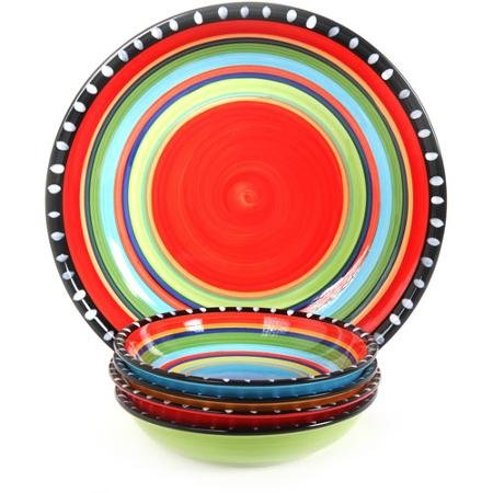 Gibson Pueblo Springs Handpainted 5-Piece Bowl set