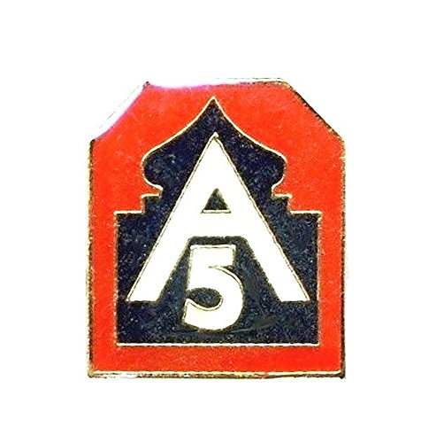 (US Army 5th Army Lapel Pin Hat Tie Tac Brass CHN)