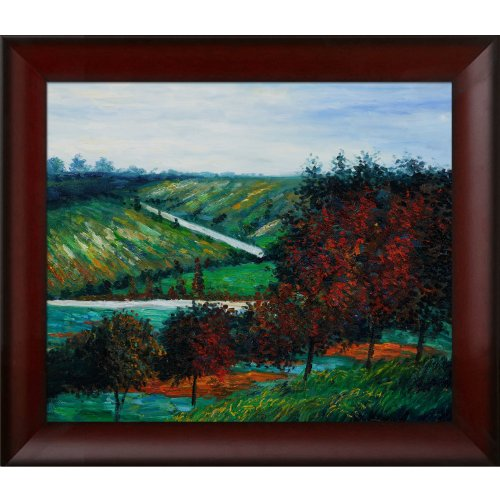 overstockArt Apple Trees in Bloom at Vetheuil 1887 Oil Painting by - Paintings 1887 Oil