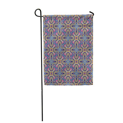 Antique Checkerboard - Semtomn Garden Flag Moroccan for Papers Tiles Abstract Antique Bright Checkerboard Chinese 12