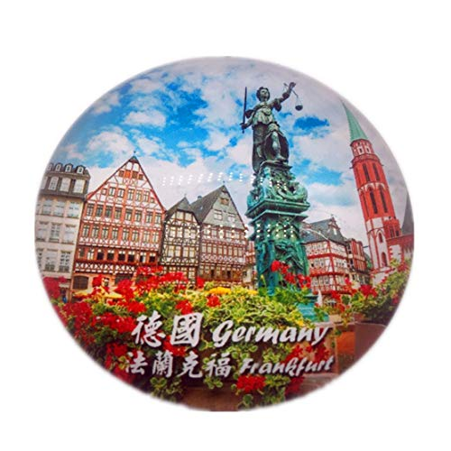 Frankfurt Germany Refrigerator Fridge Magnet City World Crystal Glass Handmade Tourist Travel Souvenir Collection Strong Word Letter Sticker Kids