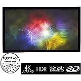 100inch 3D 4K/8K HD Ultra White PVC matter 16:9 Velvet Border 1.2 Gain Home Theater Movie Fixed Frame Projection Screen