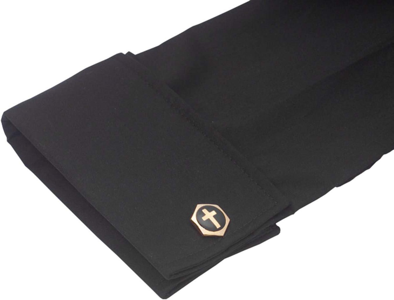 US Gifts Neckband Shirt French Cuffs