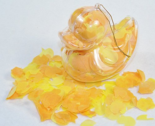 Bath Confetti In Duck-Shaped Acetate Ornament - Flower Scent