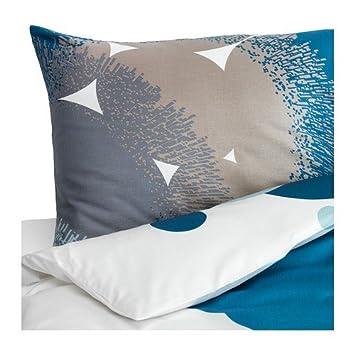Ikea Satin Bettwäsche Garnitur Bolltistel Blau In 3 Größen 140 X