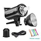 Godox SK400II 400Ws Photo Studio Strobe flash Monolight light With Bowens Mount &Lamp Head,150W Modeling Lamp for Studio,Shooting,Location and Portrait Photography-110V