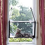 L.S 2018 Cat Perch Hammock Window Bed Kitty Sunny Mats Frames Liners (Double layers, Grey)