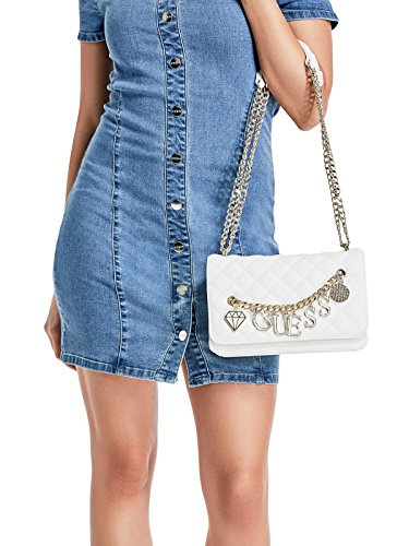 GUESS Factory White Charm Sashaa Women's Crossbody FFcWRgrU