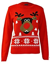 Noroze Girls Boys Christmas Knitted Rudolph Reindeer Jumpers
