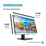 HP 24mh FHD Monitor – Computer Monitor with 23.8-Inch IPS Display (1080p) – Built-In Speakers and VESA Mounting – Height…