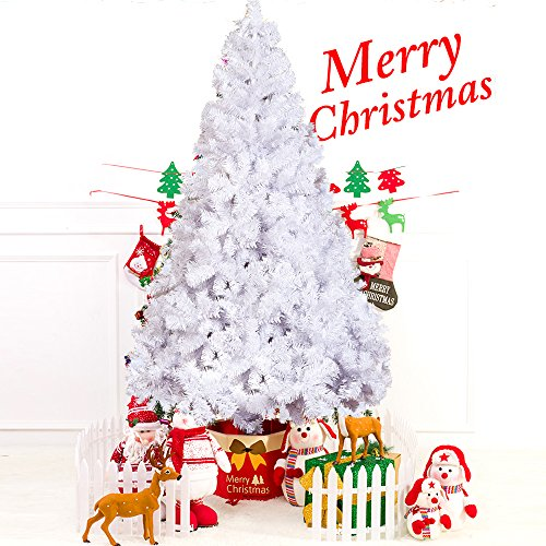 KARMAS PRODUCT 7 Ft High Christmas Tree 1000 Tips Decorate Pine Tree With  Metal Legs With