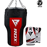 RDX Heavy Boxing Upper Cut Angled Maize Punch Bag Unfilled MMA Punching Training Sparring