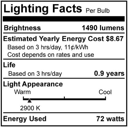 Bulbrite Halogen BT15 Medium Screw Base Light Bulb 100 Watt Incandescent Equivalent E26 Soft White 72 Watt