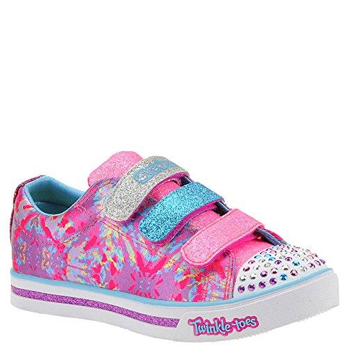 SKECHERS KIDS Girl's Sparkle Glitz 10839L Lights (Little Kid/Big Kid) Hot Pink/Multi 1 M US Little Kid