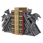 Design Toscano CL55773 Castle Dragon Gothic Decorative Bookend Statues, 8 Inch, Set of Two, Grey, 2 Count 4
