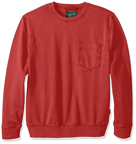 Woolrich Men's Crescent Lake Terry Crew, Fiesta Red, Large