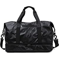 Sports Bag with Shoes Compartment Waterproof Athletic Gym Bag Gym Tote Swim Bag, Dry and Wet Separation Baggage Storage Bag