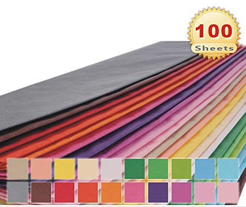 PMLAND 20 X 26 Inch Gift Wrap Tissue Paper 20 Colors - 100 Sheets