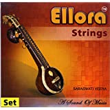 Saraswati Veena Strings, Ellora Rosellu, Bronze Professional, Complete set of strings.