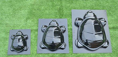 Set 3 pcs Turtle family Mold Concrete Cement Mould ABS Tortoise garden path #D14 Concrete Garden Statue Mold