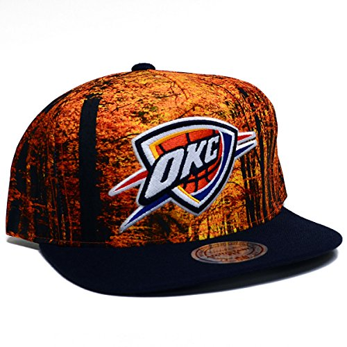 05fc181043f1a Oklahoma City Thunder Camouflage Caps. NBA Mitchell and Ness Forest Camo  Snapback Hat (OSFM ...