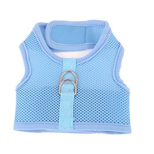 eDealMax Chien caniche Mesh Harness Design Gilet rglable Taille M Bleu Clair