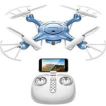 DoDoeleph Syma X5UW FPV Live Video 6-Axis Gyro RC Headless Quadcopter Drone UFO with HD Wifi 720P Camera Bonus Battery Included