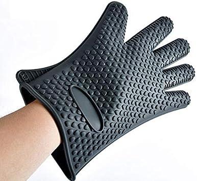Silicone Oven Mitt Useful Kitchen Cooking BBQ Heat Resistant Anti-slip Glove 1PC
