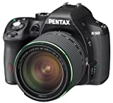 Pentax K-50 16MP Digital SLR Camera Kit with DA L 18-55mm WR f3.5-5.6 and 50-200mm WR Lenses (Black) For Sale