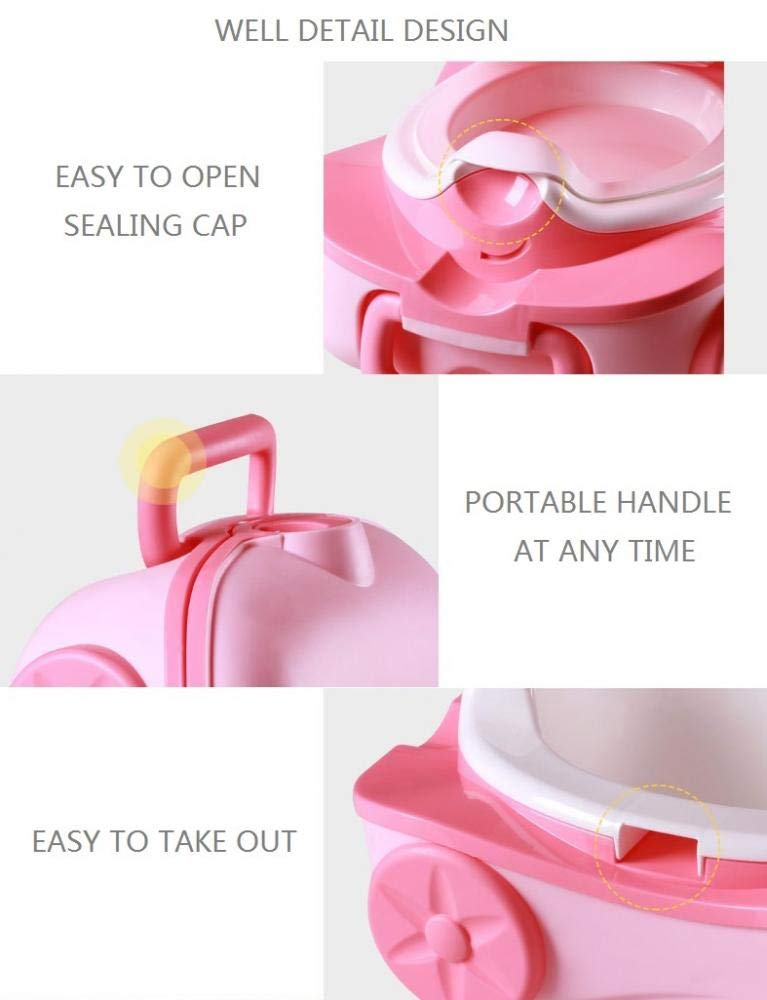 Pink Urinal Car Portable Urinal Training Toilet for Kids Boys Girls Camping Car Travel Portable Baby Travel Potty Training Toilet Seat Kids Travel Potty