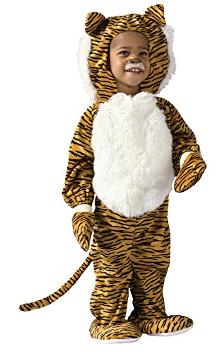 Tiger Girl Costumes (Fun World Costumes Baby's Cuddly Tiger Toddler Costume, Orange/Black, One size fits 3T-4T)